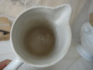 画像2: クレイユモントロー白いワータージャグ