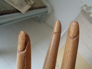 画像5: 木製ハンドオブジェ