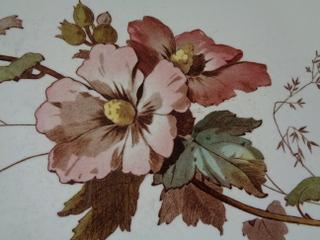 画像2: 陶器花柄トレイ