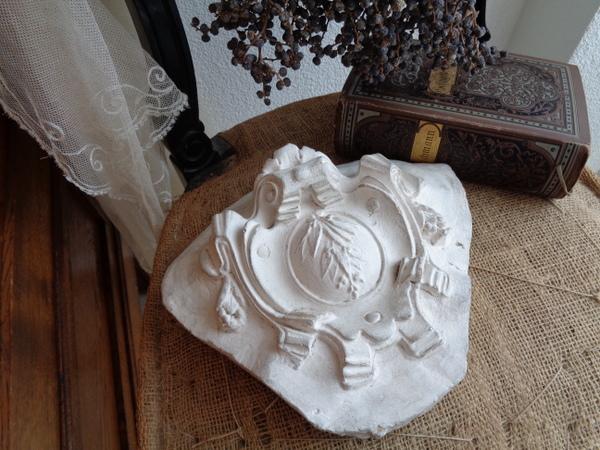 画像1: 石膏装飾パーツ