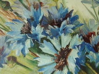 画像2: 花柄油絵