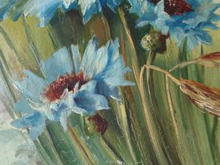 画像3: 花柄油絵