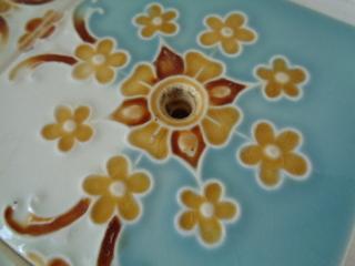 画像2: 花柄アンティークタイルセット