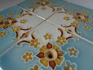 画像3: 花柄アンティークタイルセット