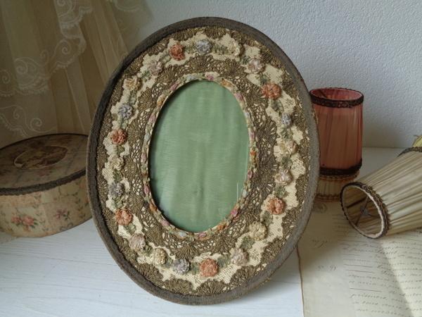 画像1: ロココリボンお花フォトスタンド