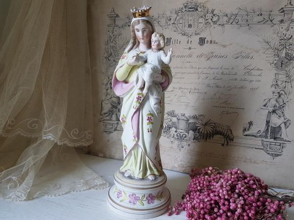 画像1: 陶器製マリア像