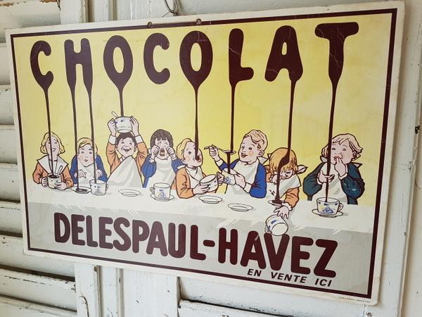 画像1: Chocolat Delespaul-Havez販売促進用ボード