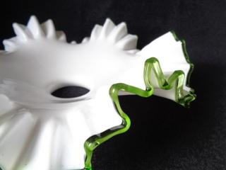 画像2: グリーンリムガラスランプシェード