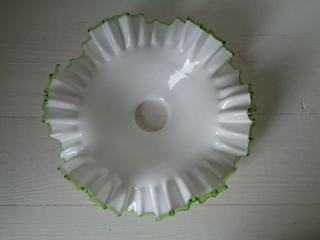 画像4: グリーンリムガラスランプシェード