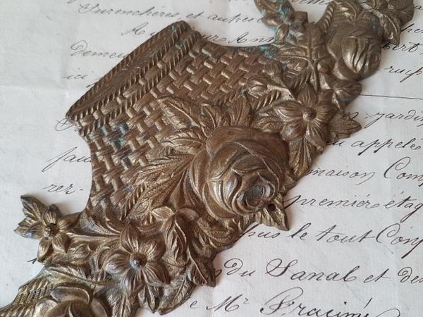 画像2: 花かご真鍮装飾パーツ