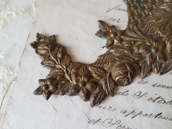 画像3: 花かご真鍮装飾パーツ