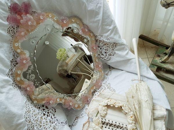 画像1: ムラノガラスミラー