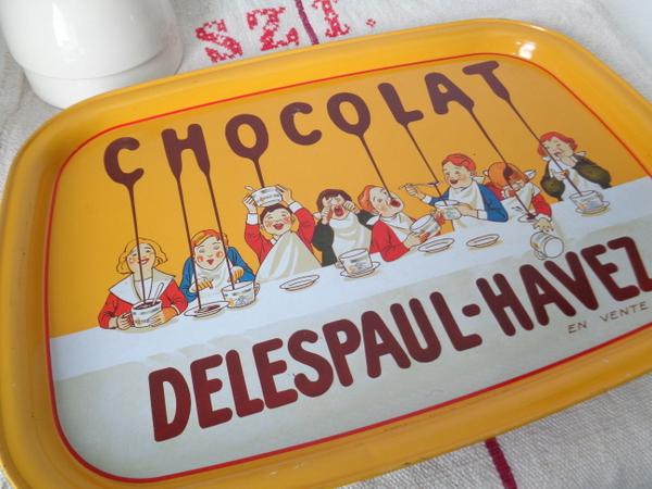 画像1: Delespaul-Havezブリキトレイ