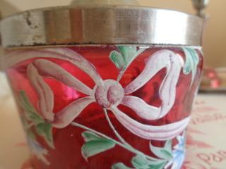 画像3: リボンと花柄ガラスジャー