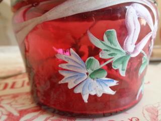 画像4: リボンと花柄ガラスジャー