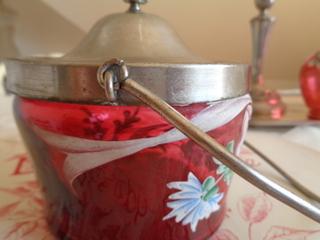 画像5: リボンと花柄ガラスジャー