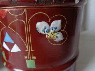 画像2: ホーロー花柄キャニスター