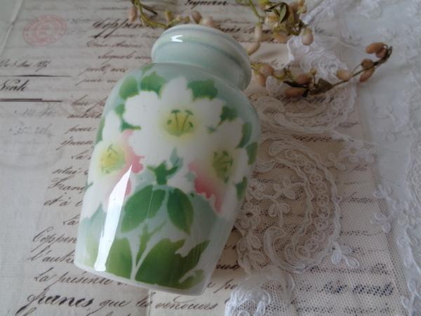画像1: リュネヴィル陶器花柄ポット