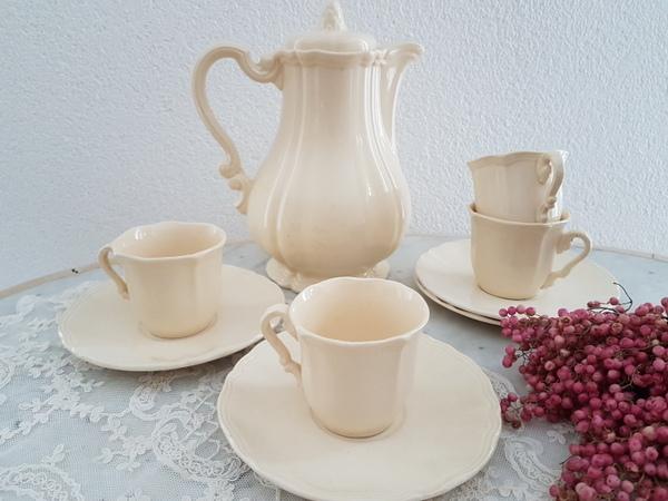 画像1: サルグミンヌ花リムコーヒーポット