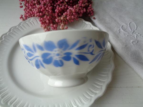 画像1: 花柄カフェオレボウル