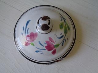 画像2: ホーロー花柄コーヒーポット