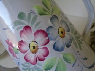 画像5: ホーロー花柄コーヒーポット