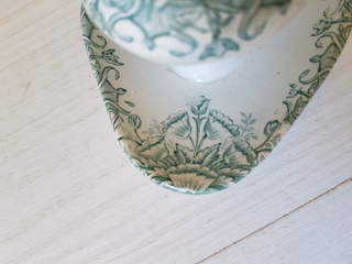 画像4: 陶器製蓋付き花柄マスタードポット