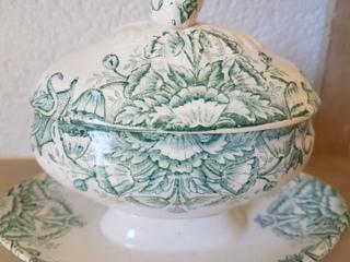 画像5: 陶器製蓋付き花柄マスタードポット