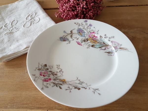 画像1: 陶器製リボンと花柄コンポート