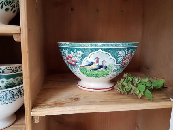 画像1: サルグミンヌカップグース柄カフェオレボウル