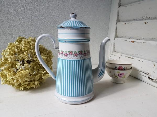 画像1: BBローズガーランド柄コーヒーポット