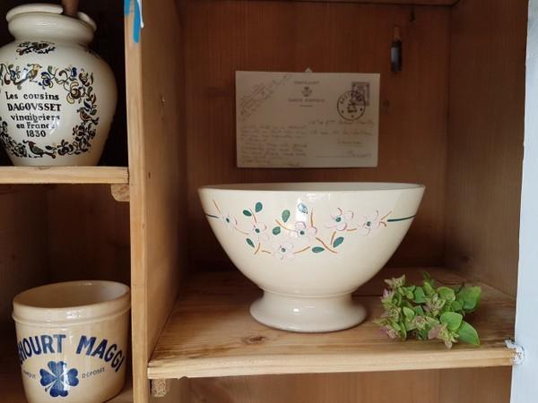 画像1: リュネヴィル花柄カフェオレボウル