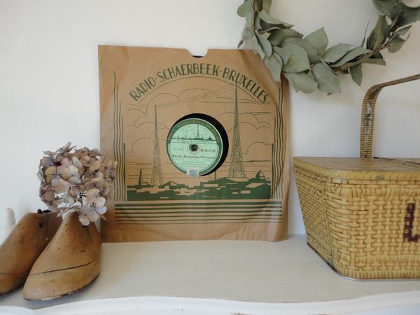 画像1: アンティークレコード盤