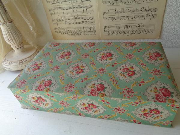 画像1: カルトナージュ花柄ボックス