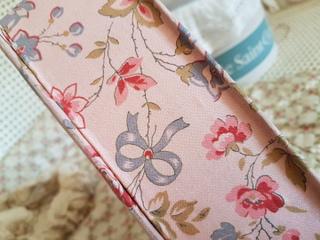 画像3: リボンと花柄カルトナージュボックス