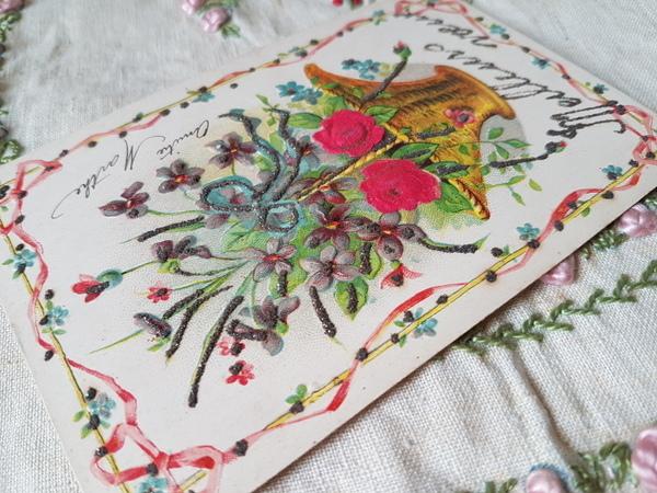 画像3: 花かごすみれとローズ柄カード