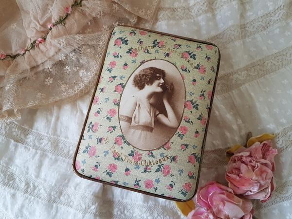 画像1: 花柄ペーパーボックス