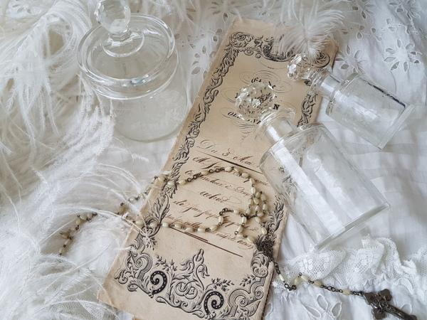 画像1: ガラス化粧瓶セット