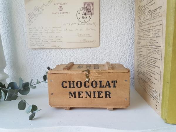 画像1: Chocolat Menierウッドコンテナー