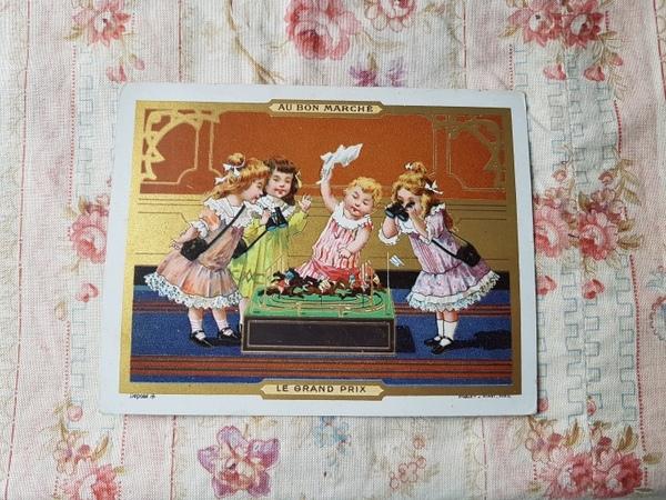 画像1: AU BON MARCHE少女のカード