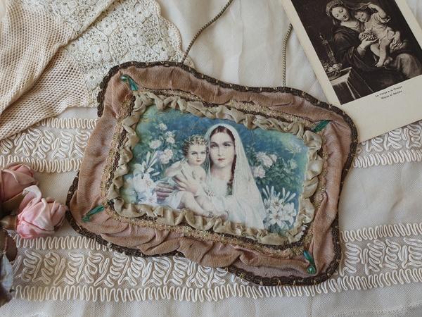 画像1: 聖母子画装飾カード
