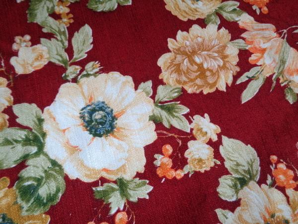 画像1: フレンチ花柄ファブリック