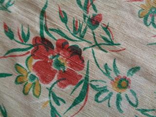 画像2: フレンチ花柄リネンファブリック
