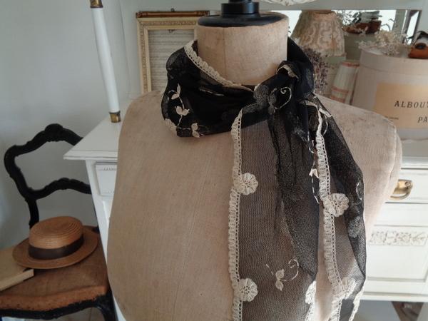 画像1: チュールレーススカーフ