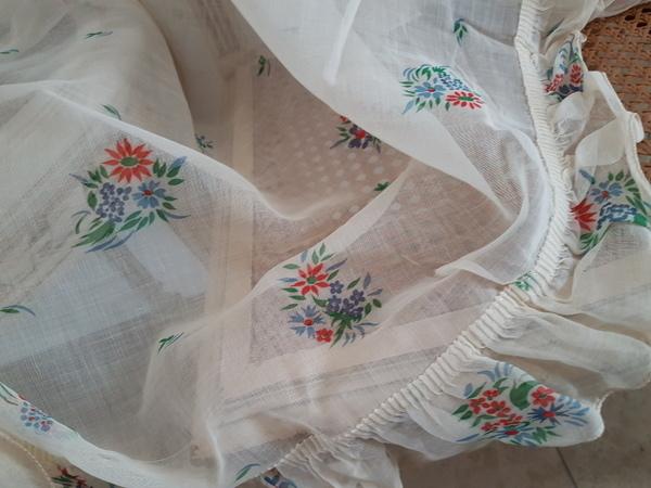 画像1: フレンチ花柄カーテン