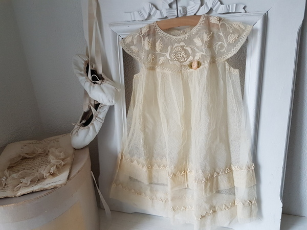画像1: チュールレースベビードレス