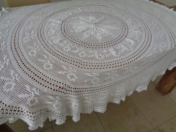 画像1: 手編みレーステーブルクロス