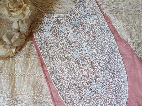 画像1: ビーズ刺繍付け襟