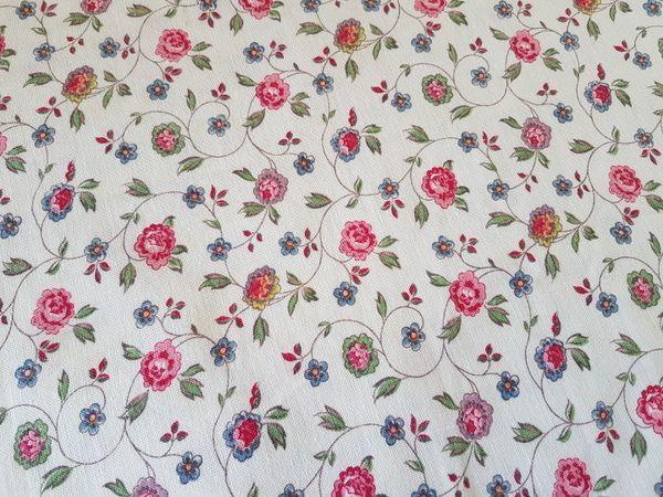 画像1: フレンチ花柄小さなカーテン