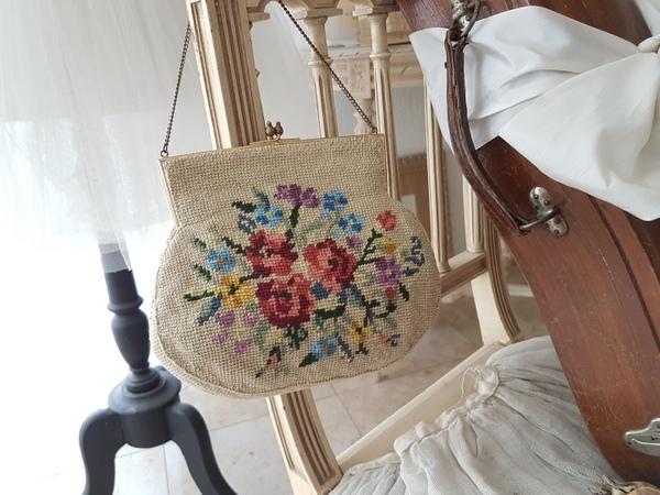 画像1: プチポワン花柄バッグ